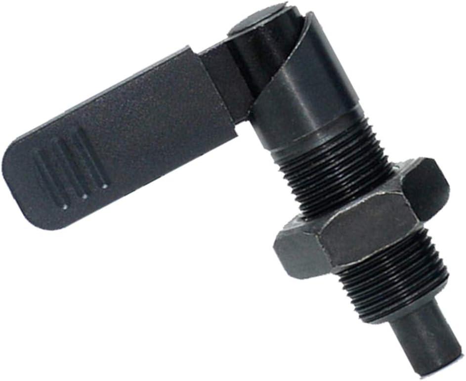 M10-6 Almencla Rastbolzen Arretierbolzen Sicherungsbolzen mit Griff Schwarz Manuelle Kontrolle