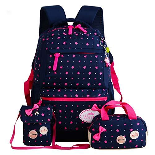 Star Printing Children School Bags For Girls Teenagers Backpacks Kids Orthopedics Backpack blue 1 (Orthopedic Backpack School)