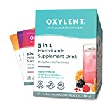 Oxylent, 5-in-1 Multivitamin Supplement Drink, Variety Pack, 30 Packet Box