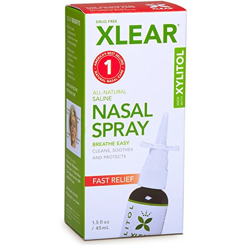 XLEAR Natural Saline Nasal Spray with Xylitol, 1.5 fl - Spray Allergy Nose
