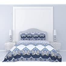 Dainty Home Blue Lagoon 3-Piece Quilted Reversible Bed Spread with Cotton Filling, King