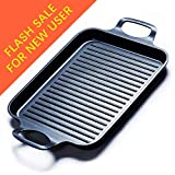 Grill Pan Stove Top Grill Induction Griddle, Double Burner Griddle Pan...