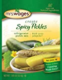 Bread and Butter Refrigerator Pickles Mrs. Wages Refrigerator Pickle Mix, Medium Spicy Pickle, 1.85 Ounce (Pack of 12)