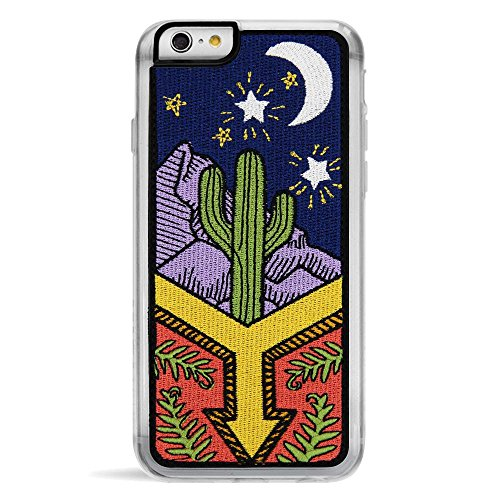Case Embroidered Phone (Zero Gravity Case Compatible with iPhone 6/6s - Awaken - Embroidered Desert Night Scene - 360° Protection, Drop Test Approved)