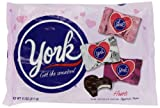 york heart - Valentines York Peppermint Pattie Miniature Hearts Bag, 11-Ounce (Pack of 4)