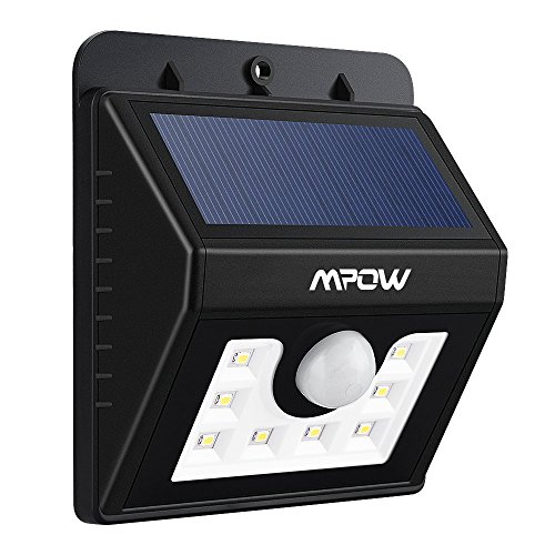 Mpow 3-in-1 Waterproof Solar Energy Powered LED Motion Sensor Security Light Outdoor Bright Light Lamp with 3 Intelligient Modes for Garden, Outdoor
