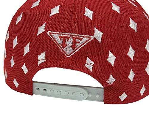 de sombrero hip Poker Hombres Red hop remache Roca béisbol COMVIP Sombrero del Spikes plano Punk zfqIYxC