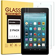 [2 Pack] Fire 7 / Fire 7 Kids Edition Screen Protector - 2017 Release, SPARIN Tempered Glass...