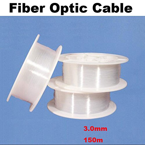 0.5mm 0.75mm 1.0mm 1.5mm 2mm 2.5mm 3mm PMMA Led Optic Fiber Cable Light End Glow Fibra Optica Ceiling Kit DIY Decoration Market (3.0mm 150M)