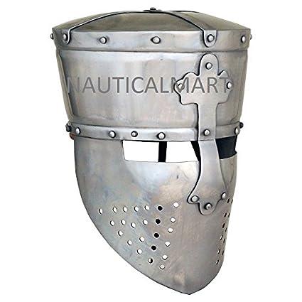 Amazon.com: Medieval Knight Templar Casco Armor – Disfraz ...