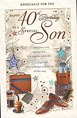 Magnificent Happy 40Th Birthday To A Special Son Card Amazon Co Uk Garden Personalised Birthday Cards Cominlily Jamesorg
