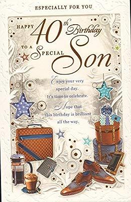 Pleasing Happy 40Th Birthday To A Special Son Card Amazon Co Uk Garden Funny Birthday Cards Online Elaedamsfinfo