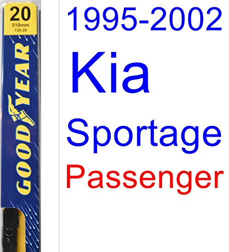 1995-2002 Kia Sportage Wiper Blade (Passenger) (Goodyear Wiper Blades-Premium) (1996,1997,1998,1999,2000,2001) for sale