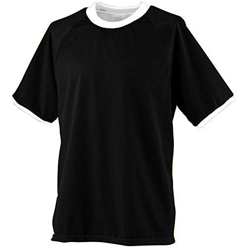 (Augusta Sportswear Boys' Reversible Practice Jersey M Black/White)