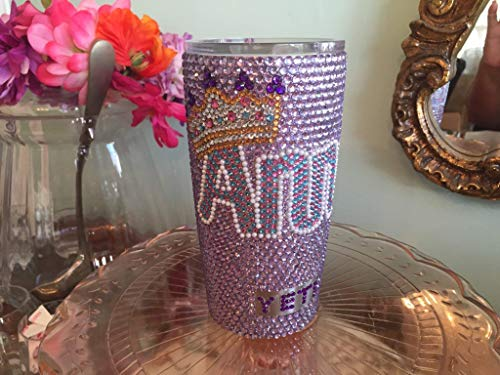 Rhinestone Yeti Rambler 20 oz with Name and Crown