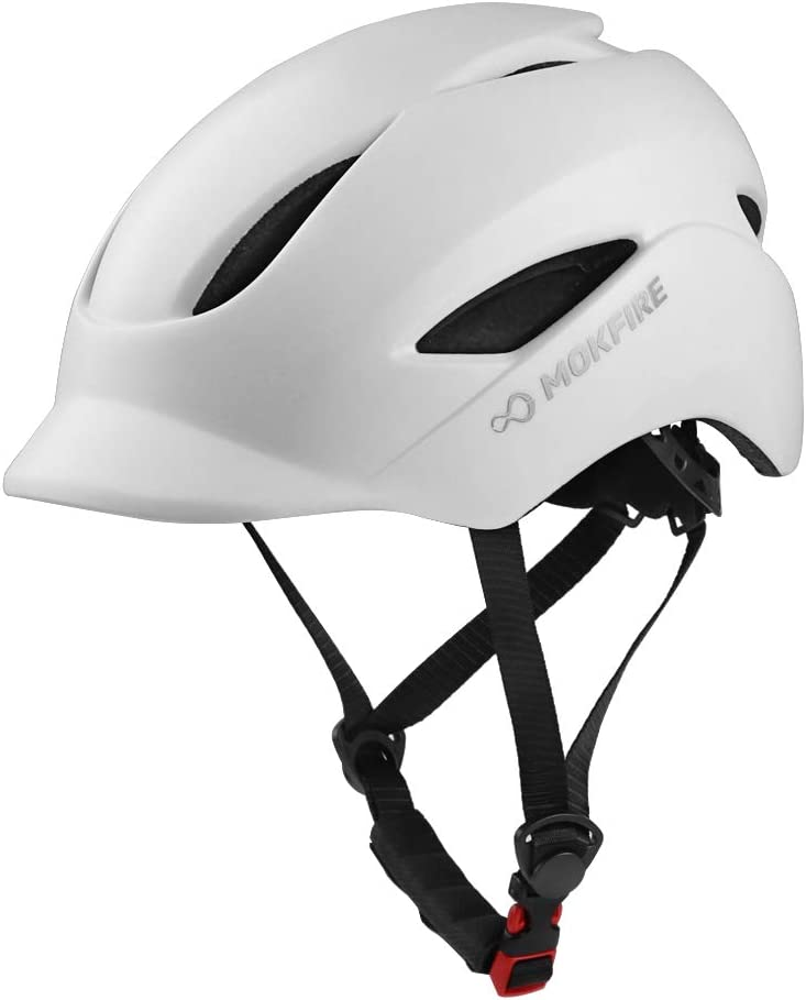 MOKFIRE Adult Bike Helmet That s Light, Cool Sleek, Cycling Helmet CPSC and CE Certified with Rear Light for Urban Commuter Adjustable Size for Adult Men Women