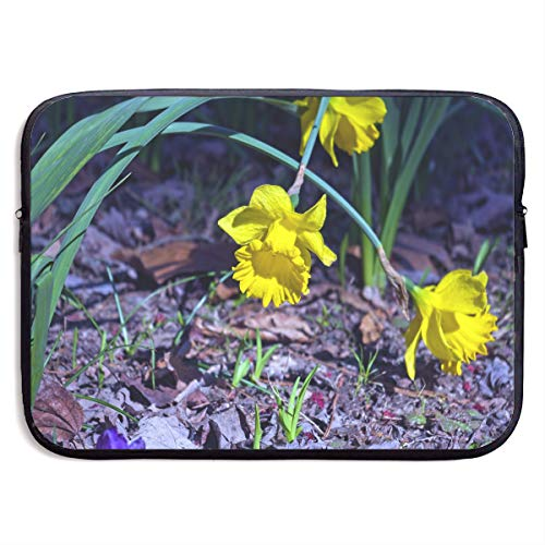 (Arkansas Narcissus Bloom Flowers Garden Printed Graphic Laptop Sleeve Computer Protective Carrying Case Bag)