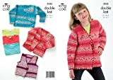 King Cole Double Knitting Pattern Girls Knitted Cardigans Childrens Splash DK 3244 by King Cole