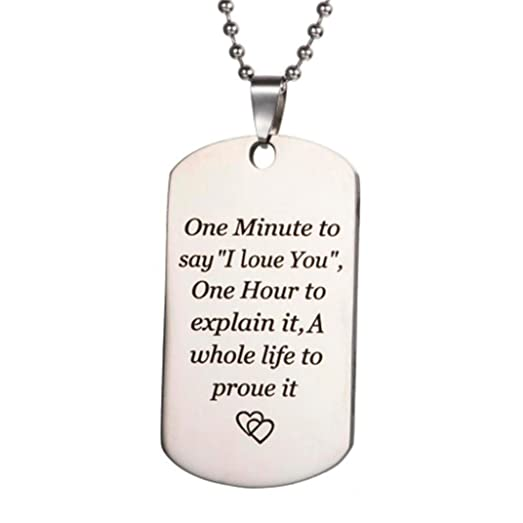Amazon to my son dog tag necklace inspirational message father to my son dog tag necklace inspirational message father and son daughter necklace from dad and aloadofball Choice Image