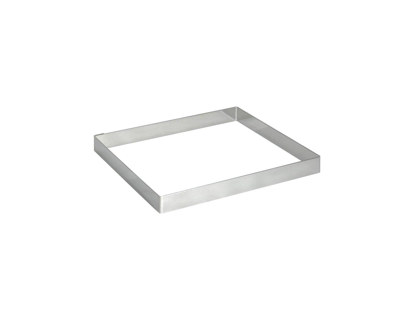 De Buyer 3905.12 - Forma inox quadrata per torte, altezza 2 cm, lato 12 cm 8x8cm 390508