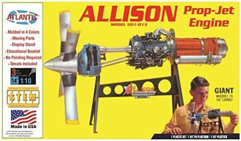 アトランティスモデル 1/10 アリソン ターボ プロップ エンジン プラスチックモデルキット AMCH1551