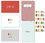 48 Thank You Cards - Popsicles and Stripes Designs for Baby Showers, Kids Parties, Graduation, All Occasions - 4 x 6 Inches