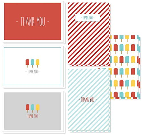 Popsicles and Stripes Designs for Baby Showers, Kids Parties, Graduation, All Occasions - 4 x 6 Inches ()