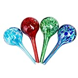 Sungmor Plant Water Dispenser 4pc Set Mini Bulbs,Automatic Watering Glass Globes,6CM x 15CM,150ML Capacity,Best Watering Solutions for Potted Plant (6x15cm 4pc Set)