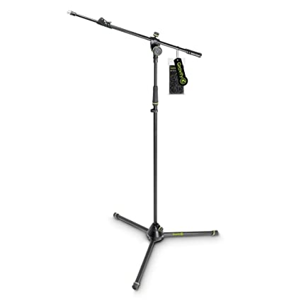 Gravity MS 4322 B Microphone Stand with Folding Tripod Base and 2-Point  Adjustment Telescoping Boom (GMS4322B