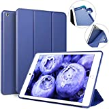 IPad 9.7 inch 2017/2018 Case ZOYU Ultra Slim Lightweight Smart Trifold Stand Cover with Magnetic Auto Wake & Sleep Function/Soft TPU Back Covers for iPad 5th/6th Generation case (Navy)
