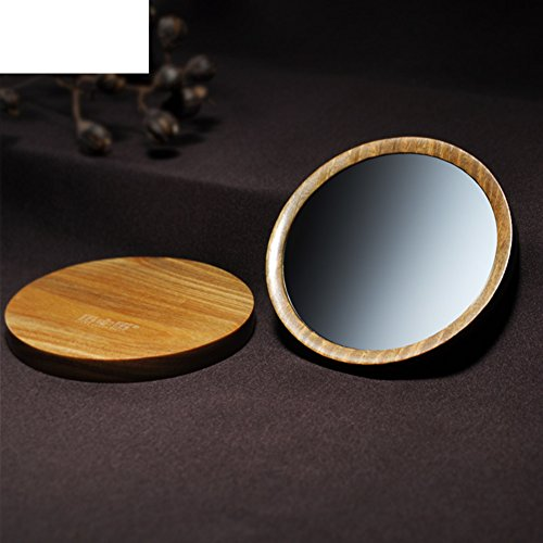 the mirror/Ebony wood mirror with mirror/cosmetic mirror/ portable single small round mirror cheap