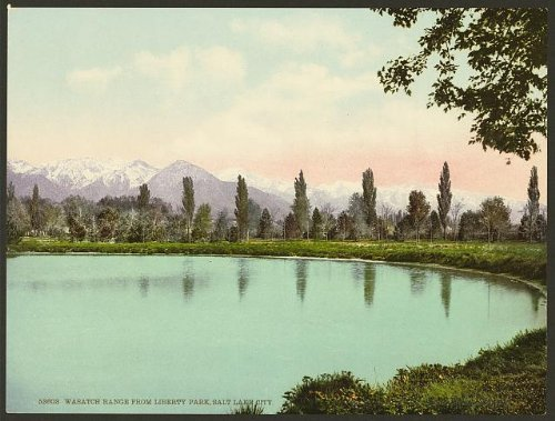 Photo: Wasatch Range,Liberty Park,Salt Lake City,Utah,UT,c1900