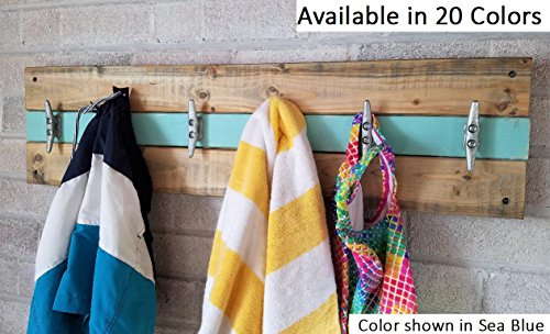 Beach House Coat Rack - Wall Hooks - Coat Rack - Entryway Organizer - Coat Rack Wall - Towels and Bathing Suits - Beach house decor - Beech (Beach Theme House Numbers)