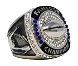 Decade Awards Silver Fantasy Football Champion Ring | Style B | Heavy FFL