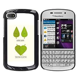 Paccase / SLIM PC / Aliminium Casa Carcasa Funda Case Cover - Funny Cute Leaf Tree Couple - BlackBerry Q10