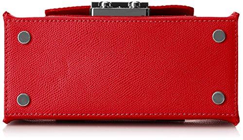 Chicca Borse 8655, Borsa a Mano Donna Rosso (Red)