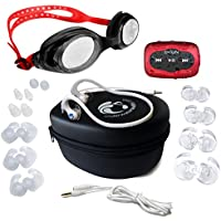 HydroActive Headphones and 8 GB SYRYN waterproof MP3 player with shuffle feature