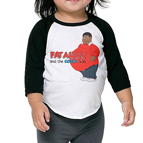 Grace Little Fat Albert And The Cosby Kids New Design Boys & Girls Infant 100% Cotton 3/4 Sleeve Raglan T-Shirts Unisex Black]()