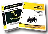 Set John Deere 650 750 Tractor Service Parts Manuals Technical Repair Catalog