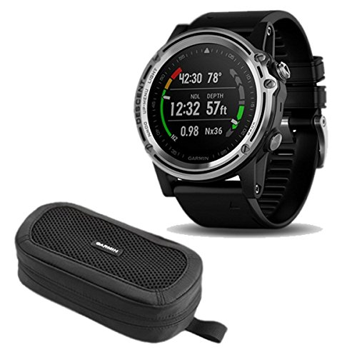 Cradle Garmin 00 Charging (Garmin Descent MK1 Watch - Silver Sapphire w/Black Band and Carrying Case)