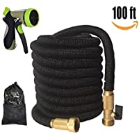 Flex Hose 100ft/30M, Strong Expandable Hose with 9 Function Nozzle, Light Weight, Enhanced Triple Layer Garden Hose Protection