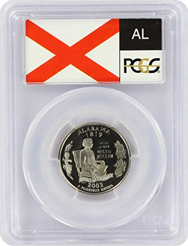 2003 Alabama State S Silver Proof Quarter PR-69 PCGS (Alabama State Quarter)