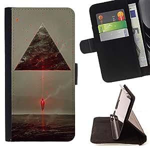 Jordan Colourful Shop - futuristic aliens ufo triangle laser spaceship For Apple Iphone 6 PLUS 5.5 - < Leather Case Absorci????n cubierta de la caja de alto impacto > -