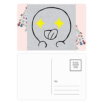 Amazon Com Eyes Send Forth Black Emoji Christmas Tree Postcard Thanks Card 20pcs Office Products