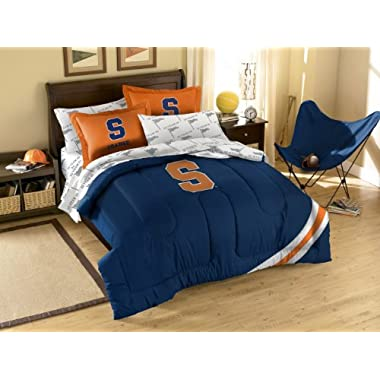 Syracuse Orangemen 7 Pc FULL Size Bed in a Bag (Comforter, 1 Flat Sheet, 1 Fitted Sheet, 2 Pillow Cases, 2 Shams) SAVE BIG ON BUNDLING!