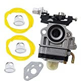Janrui Carburetor w/Gasket Primer Bulb for Jiffy Ice Auger Jiffy 2 Cycle Engines Replace 4082 Carb