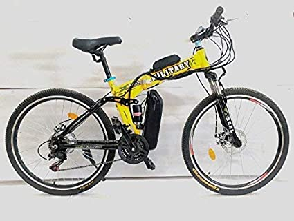 Pedalease Military Electric Bicycle (Yellow)