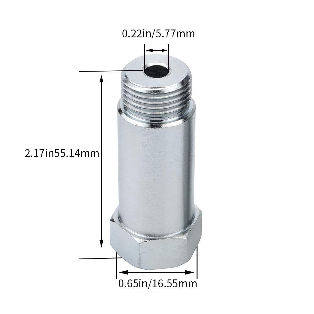 Male Energy O2/sensore di ossigeno distanziatore adattatore Extender HHO O2/Bung tubo di prova con M18/x 1.5/in acciaio confezione da 2