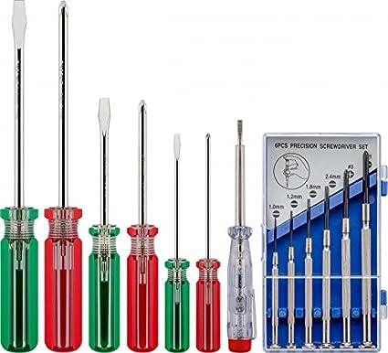 Phasenpr/üfer Zangen uvm. 20-teilig mit L/ötkolben Schraubendreher Fixpoint 45243 L/ötset und Werkzeugset in praktischer Tasche