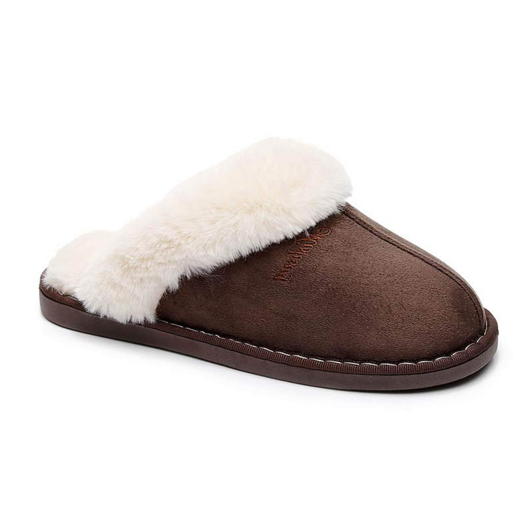Nafanio Women Cotton House Slippers Indoor Warm Thick Bottomed Anti Slip Plush Flip Flops Women Autunm and Winter Shoes